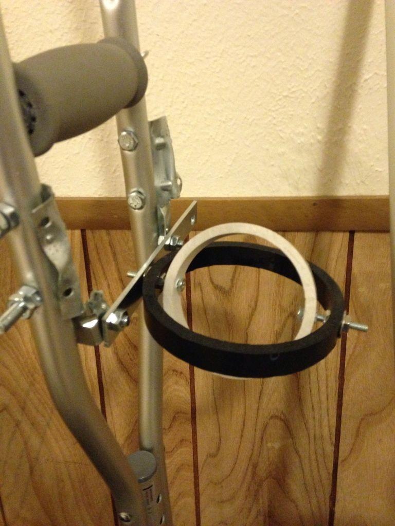 Crutch Cup Holder