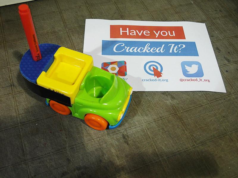 Toy car pen holder