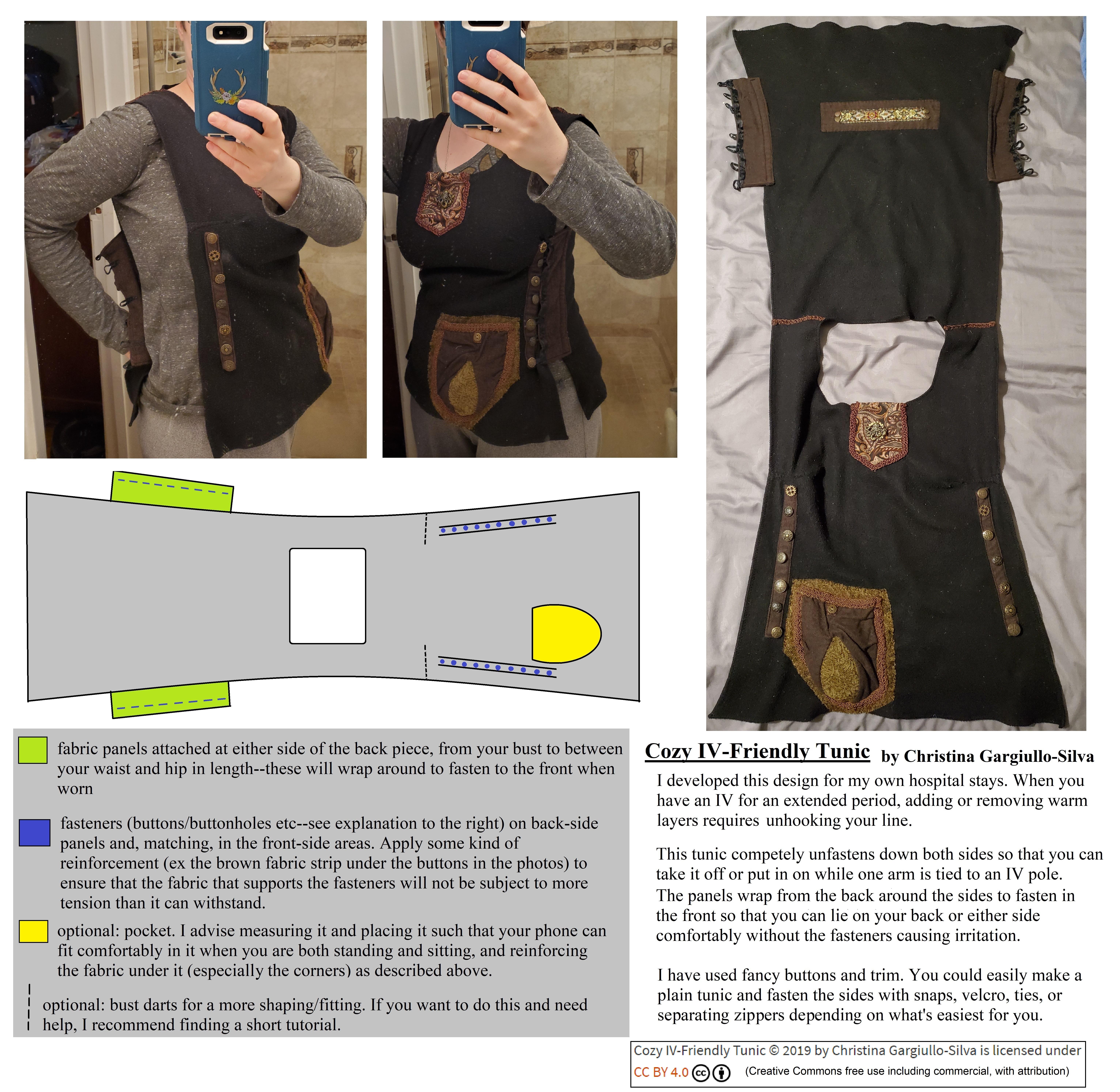 IV friendly tunic